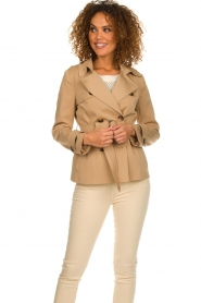 Arma |  Short trench coat Melanie | brown  | Picture 4