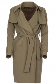 Arma |  Studio Ar trench coat Cecilia | green  | Picture 1