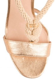 Leather Sandal | gold