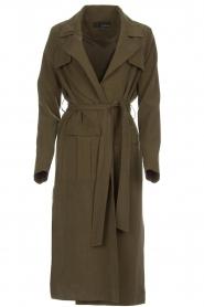Arma |  Studio Ar wrap coat Leonore | green  | Picture 1