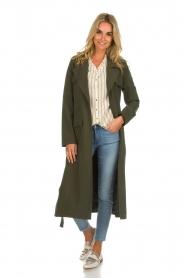 Arma |  Studio Ar wrap coat Leonore | green  | Picture 3