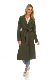Arma |  Studio Ar wrap coat Leonore | green  | Picture 4