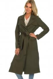 Arma |  Studio Ar wrap coat Leonore | green  | Picture 2