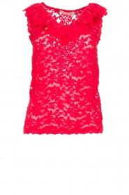 Rosemunde | Lace top Rosalie | red  | Picture 1