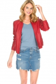 Arma |  Leather Jacket Passoa | red  | Picture 2