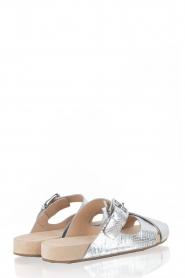 MICHAEL Michael Kors | Leren sandaal Sawyer | zilver  | Afbeelding 4