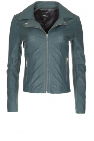 Arma |  Leather biker jacket Kendall | Blue  | Picture 1