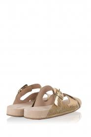 MICHAEL Michael Kors | Leren sandaal Sawyer | goud  | Afbeelding 4