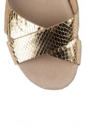 MICHAEL Michael Kors | Leren sandaal Sawyer | goud  | Afbeelding 5