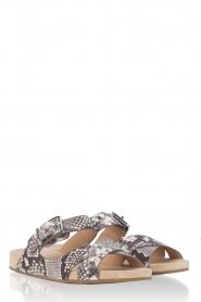 MICHAEL Michael Kors | Leren sandaal Sawyer | slangenprint  | Afbeelding 3