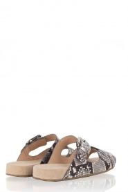 MICHAEL Michael Kors | Leren sandaal Sawyer | slangenprint  | Afbeelding 4