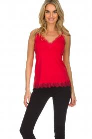 Rosemunde |  Silk top Elia | red  | Picture 2