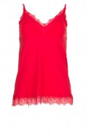 Rosemunde |  Silk top Elia | red  | Picture 1