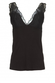 Rosemunde |  Top with lace details Yma | black  | Picture 1