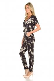 Rosemunde |  Floral jumpsuit Flora | black & white  | Picture 4