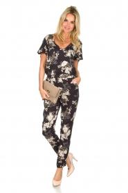 Rosemunde |  Floral jumpsuit Flora | black & white  | Picture 3