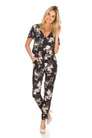 Rosemunde |  Floral jumpsuit Flora | black & white  | Picture 2
