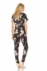 Rosemunde |  Floral jumpsuit Flora | black & white  | Picture 5