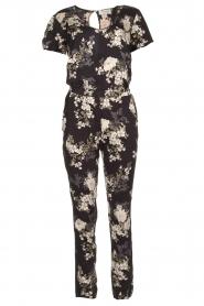 Rosemunde |  Floral jumpsuit Flora | black & white  | Picture 1