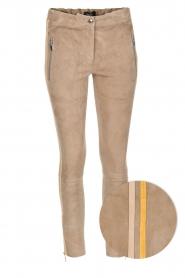 Arma | Suède broek met zijstreep Lacey | Taupe  | Afbeelding 1