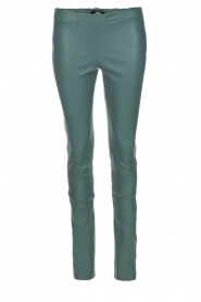 Arma |  Lamb leather stretch leggings Roche | sea green