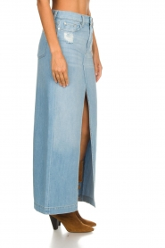 7 For All Mankind |  Denim skirt with slit Puck | blue  | Picture 4