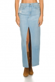 7 For All Mankind |  Denim skirt with slit Puck | blue  | Picture 3