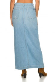 7 For All Mankind |  Denim skirt with slit Puck | blue  | Picture 5