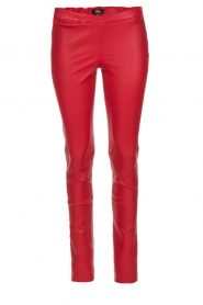 Arma |  Lamb leather stretch leggings Roche | red
