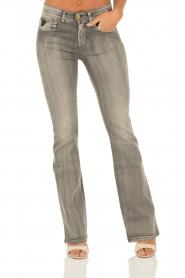 Lois Jeans | Flare jeans Melrose lengtemaat 32 | grijs  | Afbeelding 2