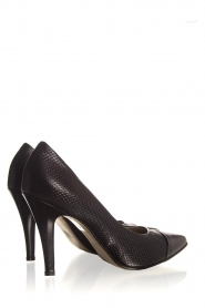 Noe |  Embossed leather pumps Nicole | black  | Picture 5