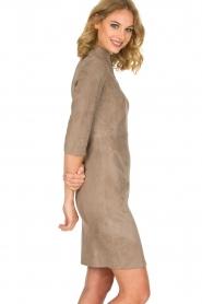 Arma | 100% lamsleren jurk Jessica | grijs  | Afbeelding 4