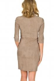 Arma | 100% lamsleren jurk Jessica | grijs  | Afbeelding 5