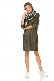 Arma | 100% lamsleren jurk Muret | kaki groen  | Afbeelding 3