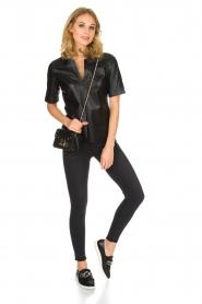 Arma | Luxe 100% lamsleren top Bacal | zwart  | Afbeelding 3