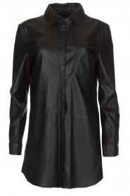 Arma | Leren blouse Monty | zwart  | Afbeelding 1