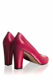 Noe :  Leather peep-toe pumps Nicoline | pink - img4