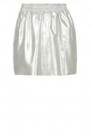 Arma | Zilveren rok van 100% geitenleer Chrisette | zilver  | Afbeelding 1