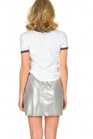 Arma | Zilveren rok van 100% geitenleer Chrisette | zilver  | Afbeelding 5