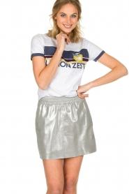 Arma | Zilveren rok van 100% geitenleer Chrisette | zilver  | Afbeelding 2
