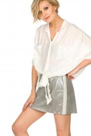 Arma | Zilveren rok van 100% geitenleer Chrisette | zilver  | Afbeelding 4