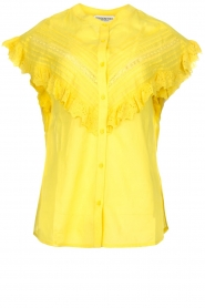 Essentiel Antwerp |  Blouse with ruffles Sloeber | yellow  | Picture 1