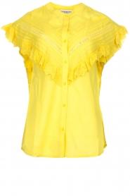 Essentiel Antwerp |  Blouse with ruffles Sloeber | yellow  | Picture 1