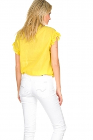 Essentiel Antwerp |  Blouse with ruffles Sloeber | yellow  | Picture 5