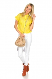 Essentiel Antwerp |  Blouse with ruffles Sloeber | yellow  | Picture 3