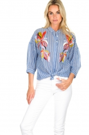 Essentiel Antwerp | Blouse Amelie | blue  | Picture 2