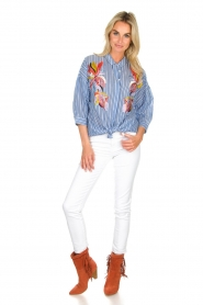 Essentiel Antwerp | Blouse Amelie | blue  | Picture 3
