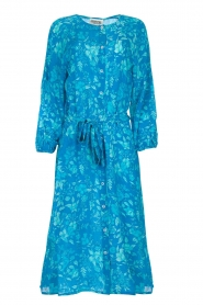 Essentiel Antwerp |  Silk midi dress Selim | blue  | Picture 1