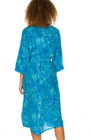 Essentiel Antwerp |  Silk midi dress Selim | blue  | Picture 6