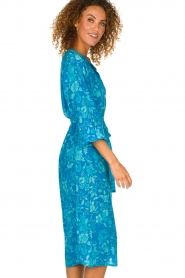 Essentiel Antwerp |  Silk midi dress Selim | blue  | Picture 5